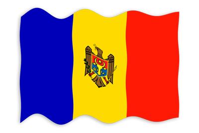 モルドバ共和国の国旗-波
