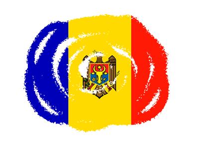 モルドバ共和国の国旗-クラヨン2