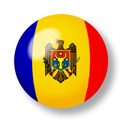 モルドバ共和国の国旗-ビー玉