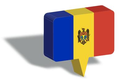 モルドバ共和国の国旗-マップピン