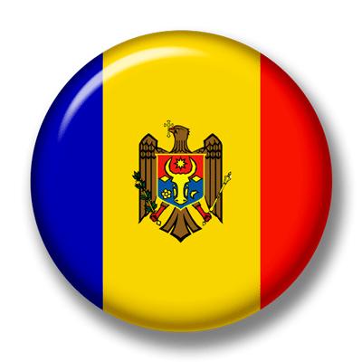 モルドバ共和国の国旗-缶バッジ