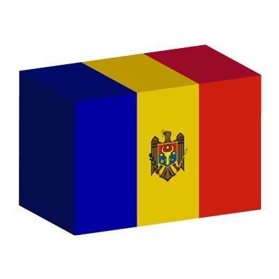 モルドバ共和国の国旗-積み木