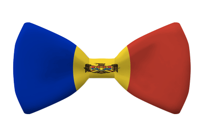 モルドバ共和国の国旗-蝶タイ