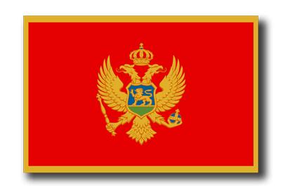 モンテネグロの国旗-ドロップシャドウ