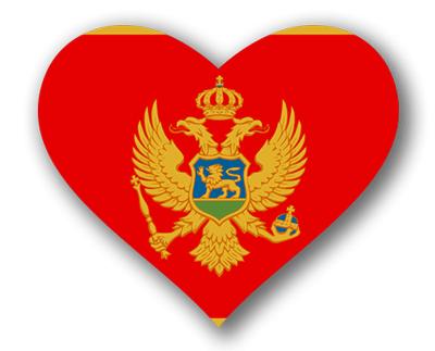 モンテネグロの国旗-ハート