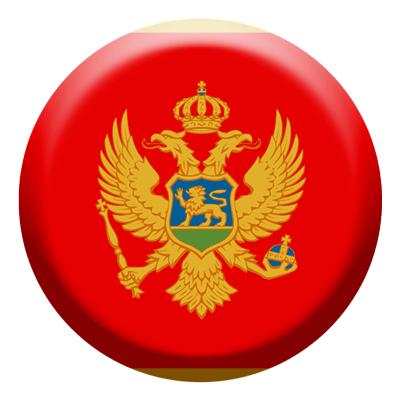 モンテネグロの国旗-コイン