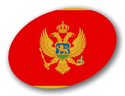 モンテネグロの国旗-楕円