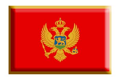 モンテネグロの国旗-板チョコ