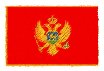 モンテネグロの国旗-パステル