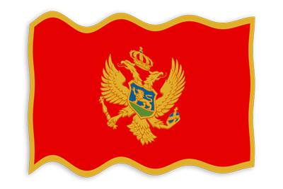 モンテネグロの国旗-波