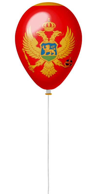 モンテネグロの国旗-風せん