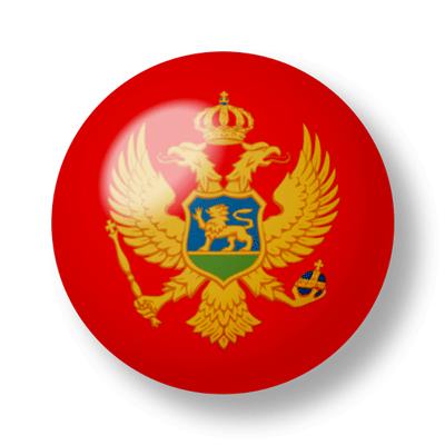 モンテネグロの国旗-ビー玉