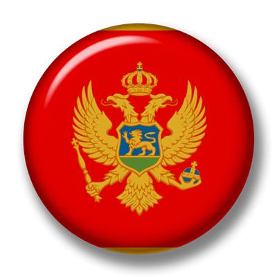 モンテネグロの国旗-缶バッジ