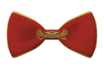 モンテネグロの国旗-蝶タイ