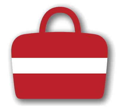 ラトビア共和国の国旗-バッグ