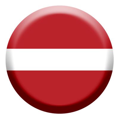 ラトビア共和国の国旗-コイン