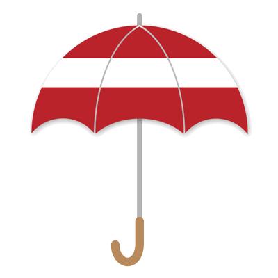 ラトビア共和国の国旗-傘