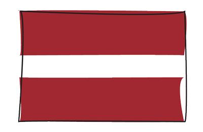 ラトビア共和国の国旗-グラフィティ