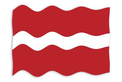 ラトビア共和国の国旗-波