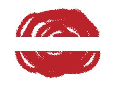 ラトビア共和国の国旗-クラヨン2