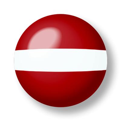 ラトビア共和国の国旗-ビー玉