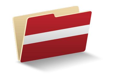 ラトビア共和国の国旗-フォルダ