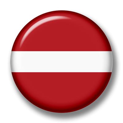 ラトビア共和国の国旗-缶バッジ