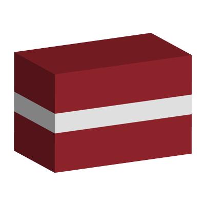 ラトビア共和国の国旗-積み木