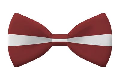 ラトビア共和国の国旗-蝶タイ