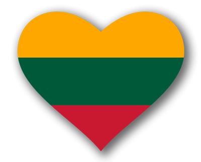 リトアニア共和国の国旗-ハート