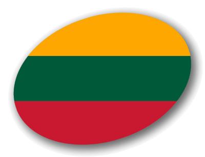 リトアニア共和国の国旗-楕円