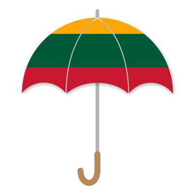 リトアニア共和国の国旗-傘