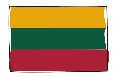 リトアニア共和国の国旗-グラフィティ