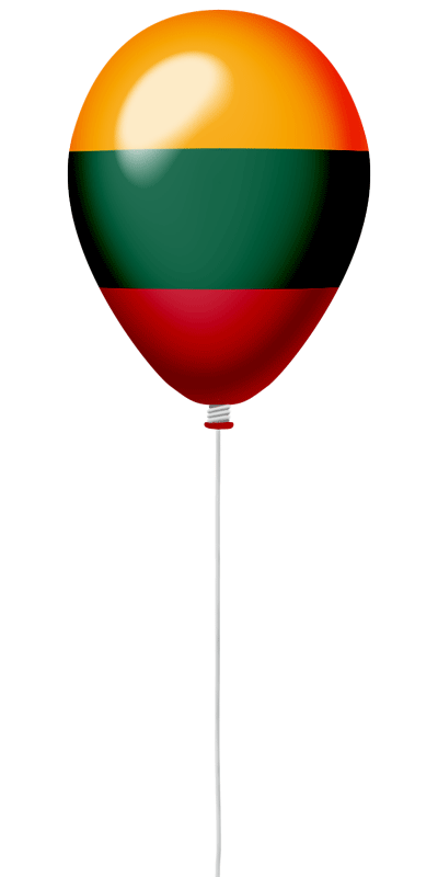 リトアニア共和国の国旗-風せん