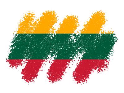 リトアニア共和国の国旗-クレヨン1
