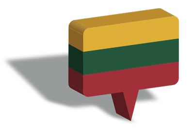 リトアニア共和国の国旗-マップピン