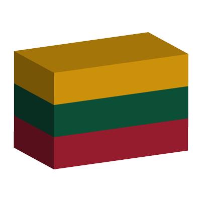リトアニア共和国の国旗-積み木