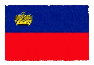 リヒテンシュタイン公国の国旗-パステル