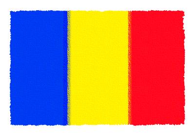 ルーマニアの国旗-パステル
