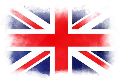イギリスの国旗-水彩風