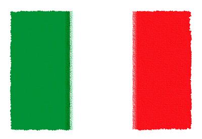 イタリア共和国の国旗-パステル