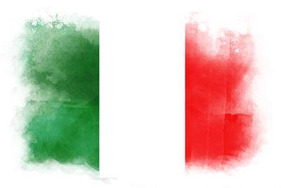 イタリア共和国の国旗-水彩風