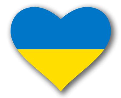 ウクライナの国旗-ハート