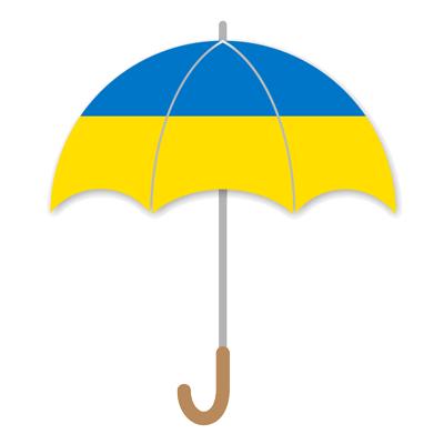 ウクライナの国旗-傘