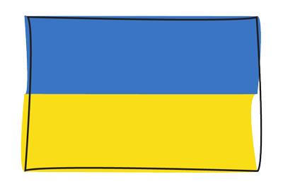 ウクライナの国旗-グラフィティ