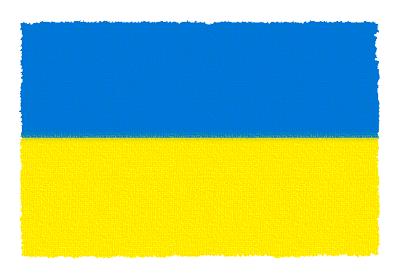 ウクライナの国旗-パステル
