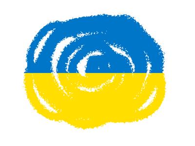 ウクライナの国旗-クラヨン2