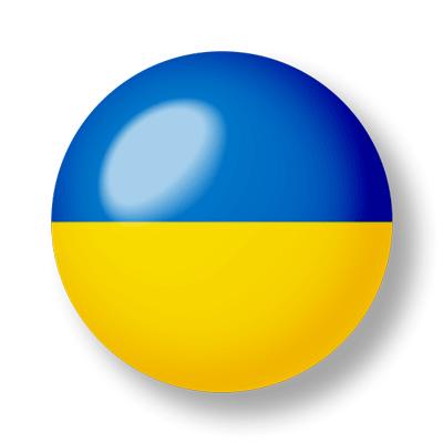 ウクライナの国旗-ビー玉