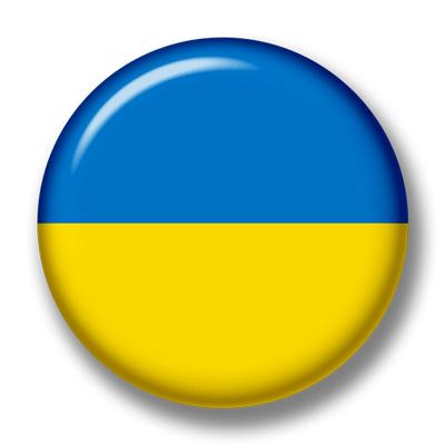 ウクライナの国旗-缶バッジ