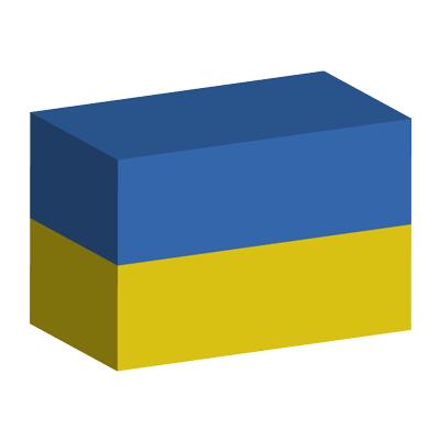 ウクライナの国旗-積み木